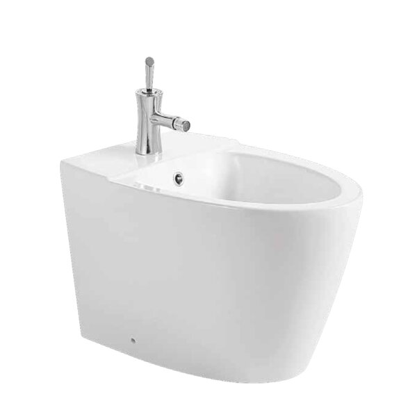 Ceramic 16 Floor Mount Bidet by Luxe Bathroom Cabinetry Vanities