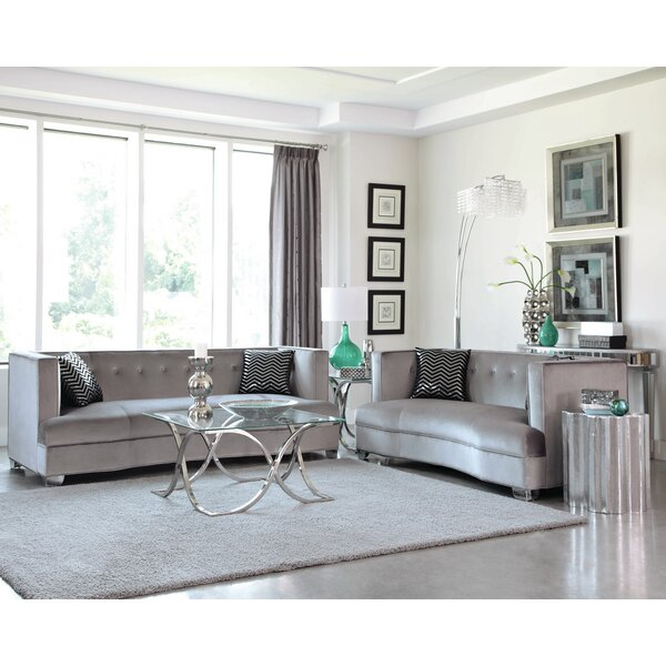 Koeller 4 Piece Living Room Set by Everly Quinn