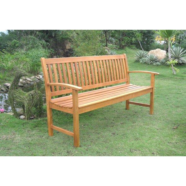 Sabbattus Balau 3-Seat Garden Bench by Breakwater Bay