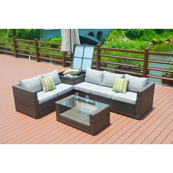 Gearldine 4 Piece Sofa Seating Group With Cushions By Rosecliff Heights by Rosecliff Heights 2020 Coupon