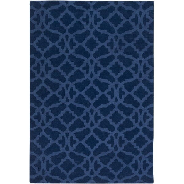 Hennings Handmade Navy Blue Area Rug by Alcott Hill
