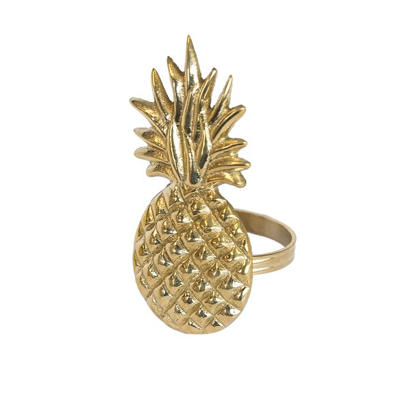 Pineapple Napkin Ring (Set of 6) by Birch Lane™