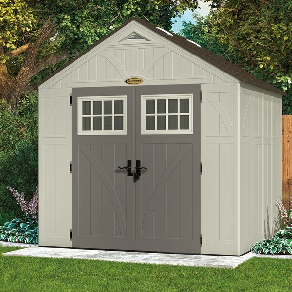 Tremont 8 ft. 5 in. W x 7 ft. 2 in. D Plastic Storage Shed by Suncast