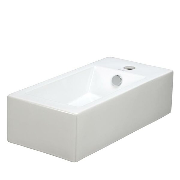 Ceramic 20 Wall Mount Bathroom Sink with Overflow by Elanti
