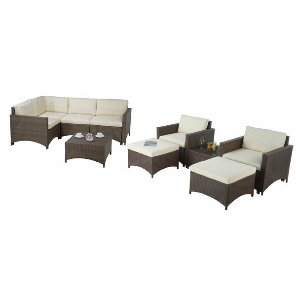 Wichita 9 Piece Sectional Seating Group with Cushions by Ebern Designs
