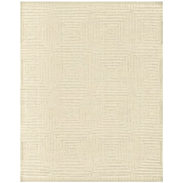 Lapis Hand-Knotted Ivory Area Rug by Mercer41