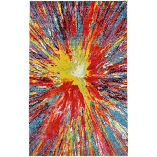 Elvia Yellow/Red Area Rug by Latitude Run