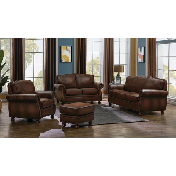Drumaduan 4 Piece Leather Living Room Set by Canora Grey