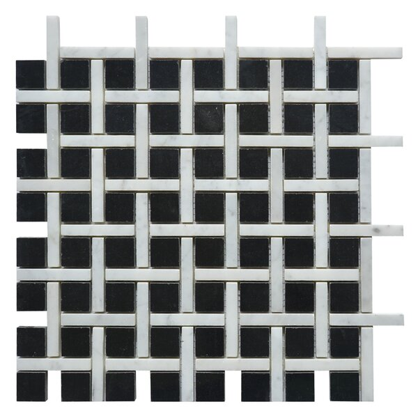 Apartment New York Random Sized Marble Mosaic Tile in White/Black by Matrix Stone USA