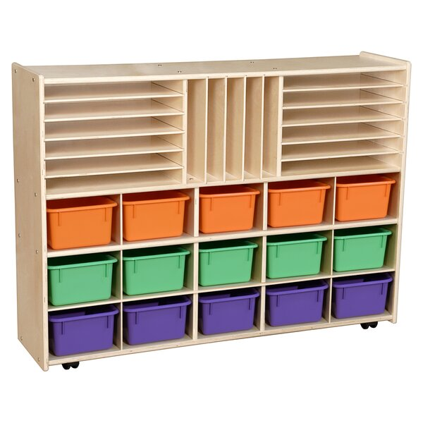 Clarendon 32 Compartment Cubby with Trays by Symple Stuff