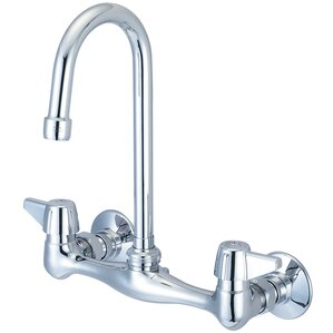 Central Brass Double Handle Wall Mounted Standard Kitchen Faucet