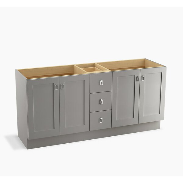 Poplin™ 72 Vanity with Toe Kick, 4 Doors and 3 Drawers by Kohler