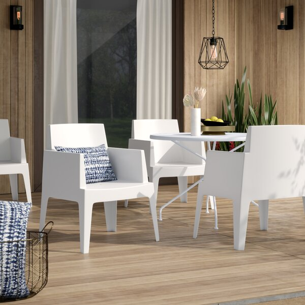 Bence Stacking Patio Dining Chair (Set of 4) by Mercury Row