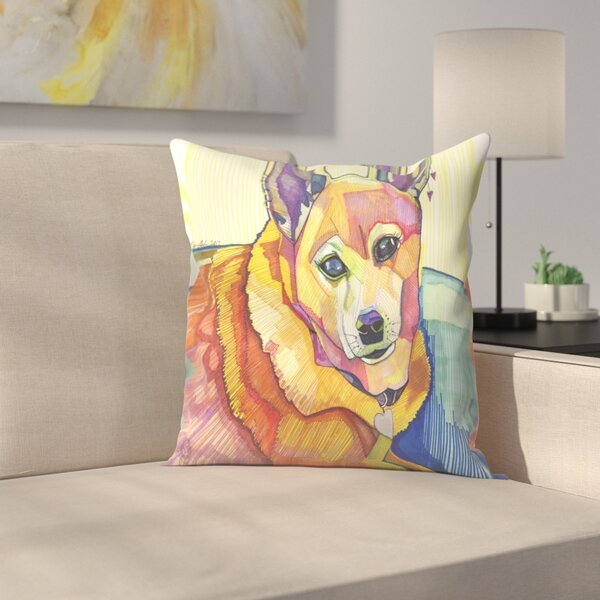Mkm Dog Throw Pillow Cover by East Urban Home