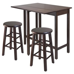 Bettencourt 3 Piece Counter Height Pub Table Set by Red Barrel Studio