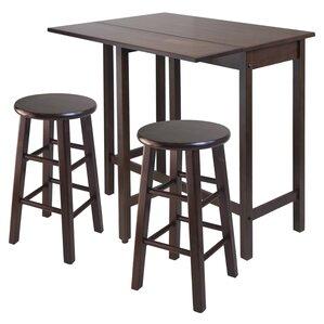 Bettencourt 3 Piece Counter Height Pub Table Set