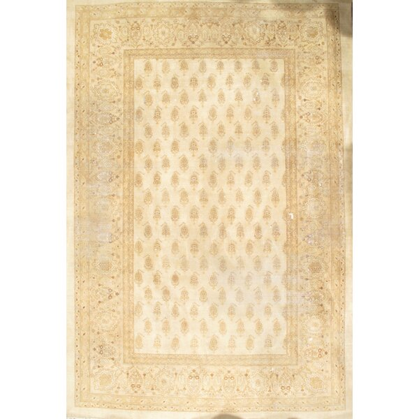 Amritsar Hand-Knotted Wool Ivory Area Rug