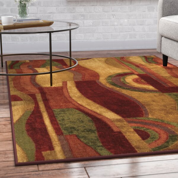 Jeanie Wine Area Rug by Latitude Run