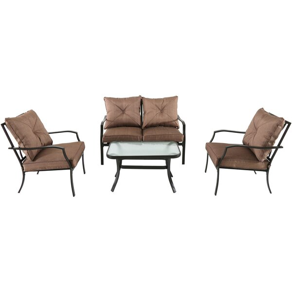 Montsegur 4 Piece Sofa Set with Cushions by Winston Porter