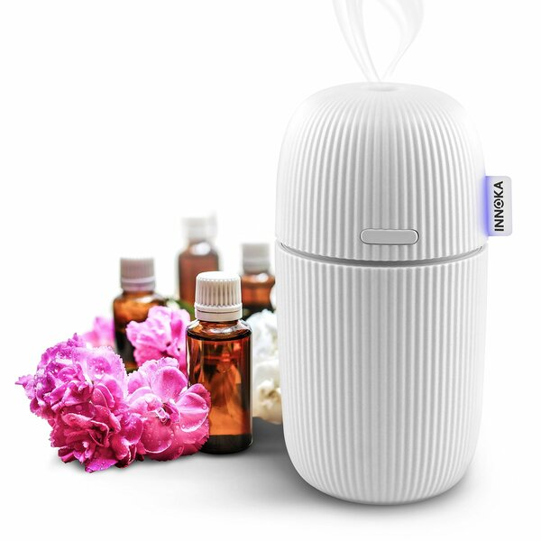 Aroma Fragrance Essential 0.03 Gal. Cool Mist Ultrasonic Tabletop Humidifier by Innoka