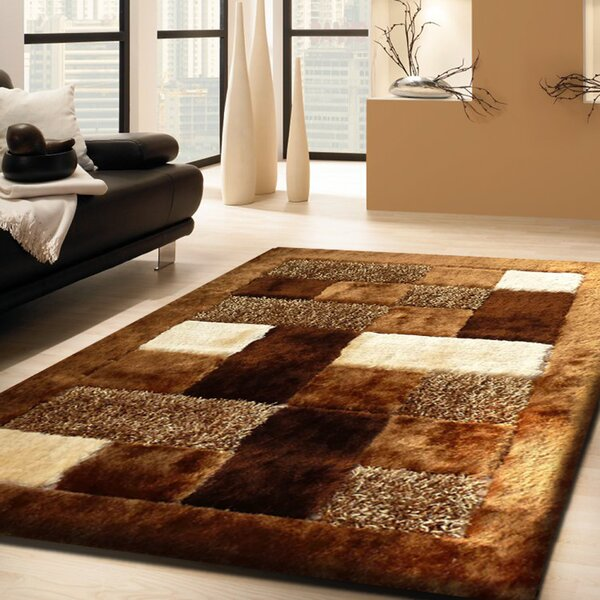 Difiore Shag Hand-Tufted Brown Indoor Area Rug by Orren Ellis