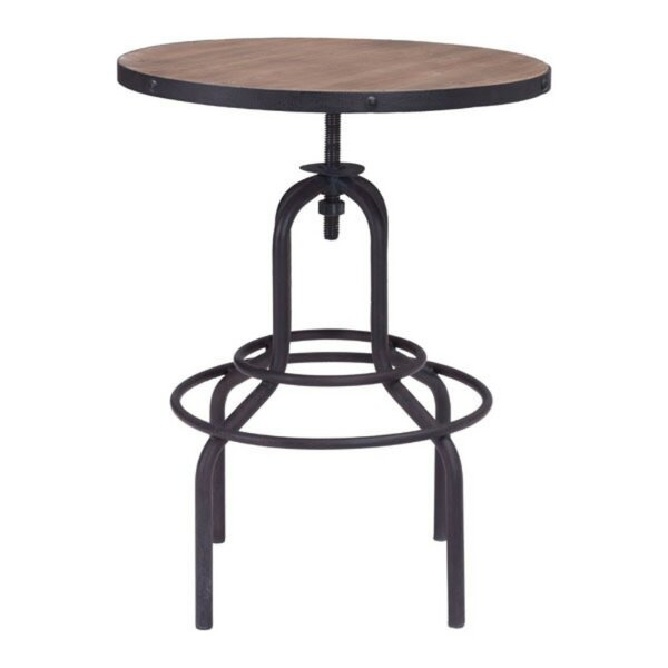Tatum Adjustable Pub Table by 17 Stories