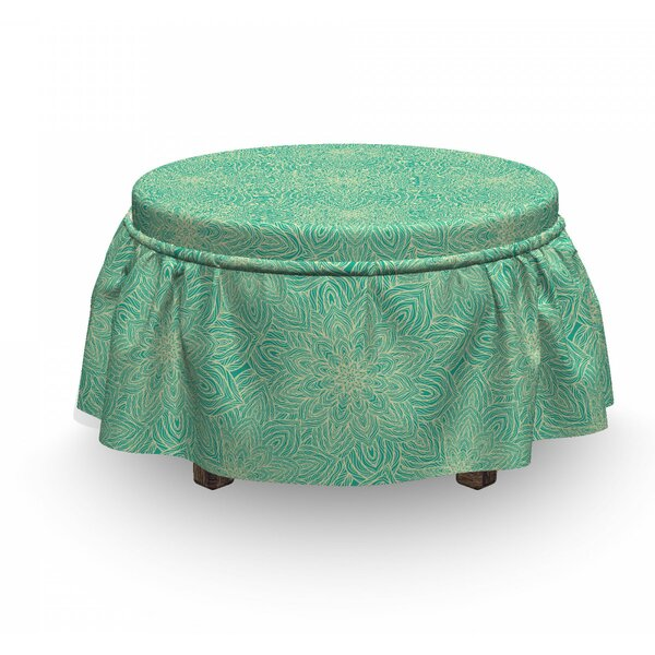 Overlapping Mandala Rounds Ottoman Slipcover (Set Of 2) By East Urban Home