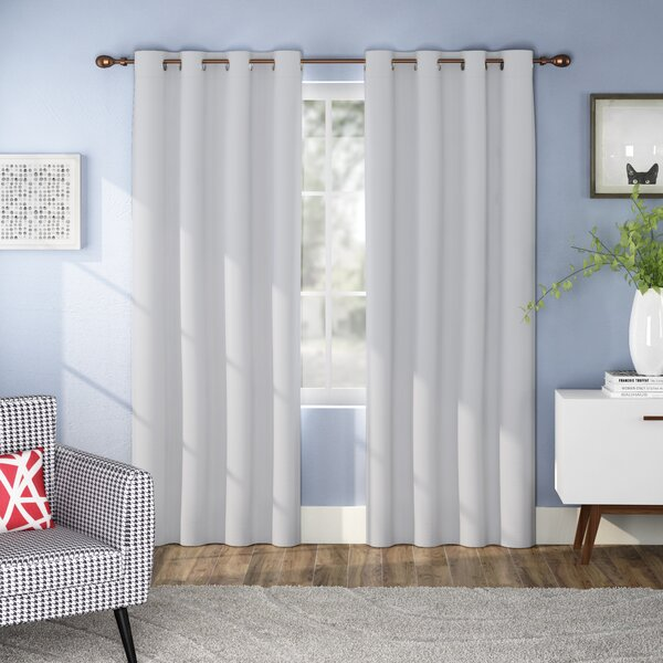 Courtney Solid Blackout Grommet Curtain Panels (Set of 2) by Ivy Bronx