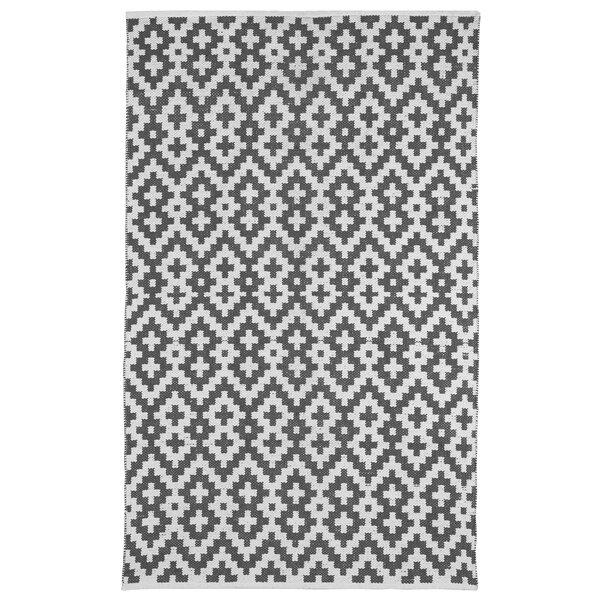 Zen Samsara Cotton Charcoal Gray/White Area Rug by Fab Habitat
