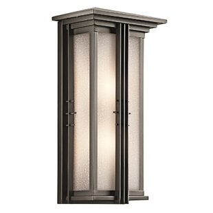Price comparison Halliburton 1-Light Outdoor Flush Mount By Red Barrel Studio