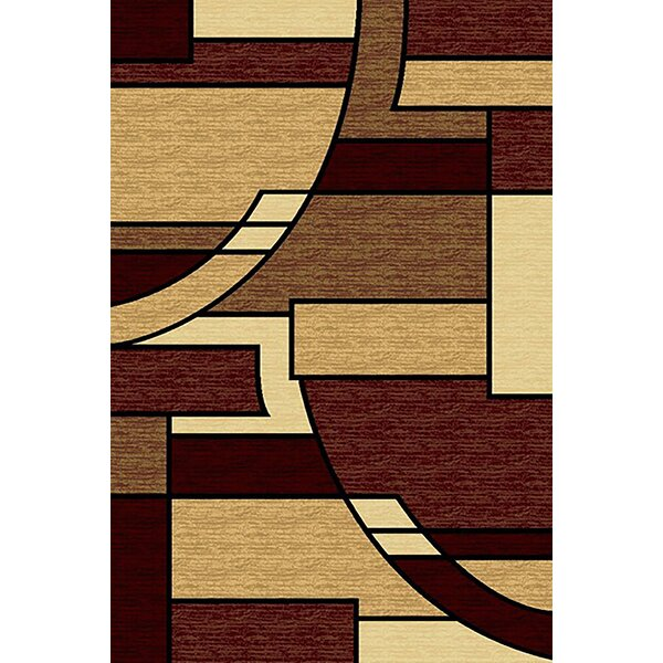 Cossey Burgundy/Beige Area Rug by Ebern Designs
