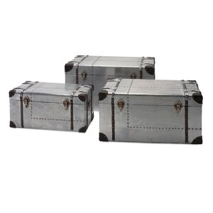 3 Piece Brewer Aluminum Trunk Set
