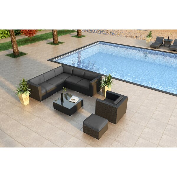 Azariah 8 Piece Sectional Seating Group with Sunbrella Cushions by Orren Ellis