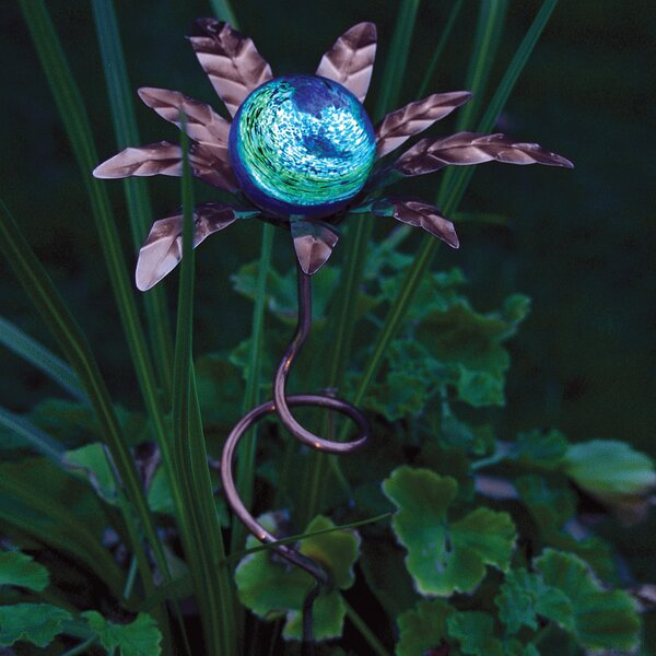 Palm Illuminaries Glow in The Dark Stake with Globe (Set of 4) by Echo Valley