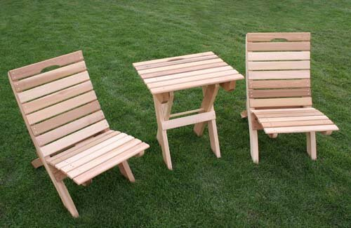 Cedar 3 Piece Conversation Set by Creekvine Designs
