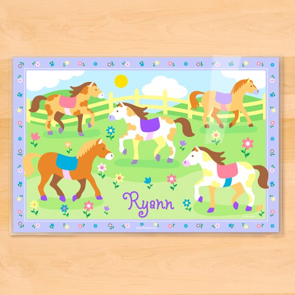 Patchwork Ponies Personalized Placemat by Olive Kids