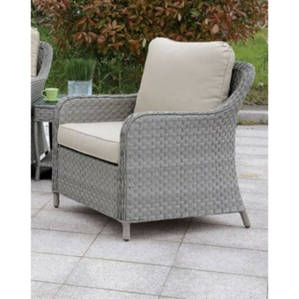 Newberg Patio Dining Chair with Cushion by Charlton Home Charlton Home