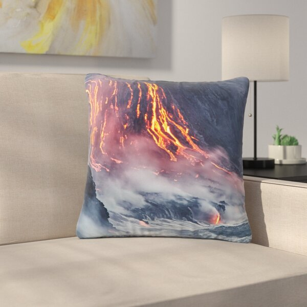 Lava Outdoor Throw Pillow by East Urban Home