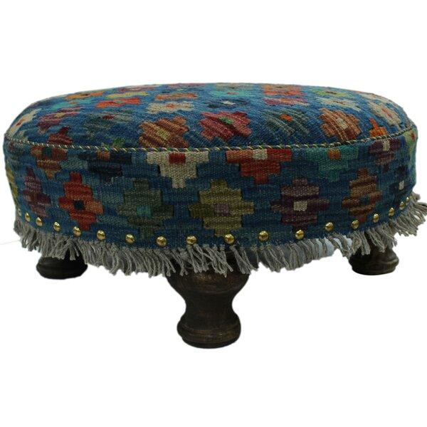 Sturdevant Kilim Upholstered Handmade Ottoman by Bloomsbury Market