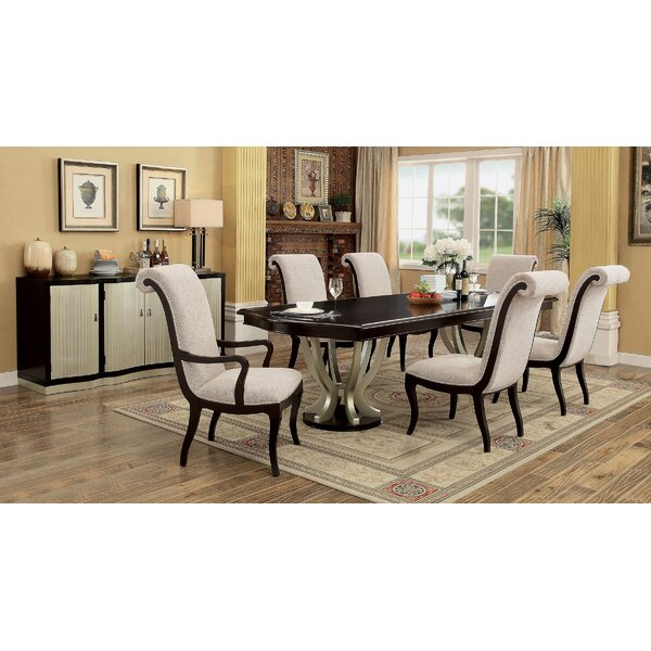 Moreno Contemporary 7 Piece Extendable Solid Wood Dining Set by Winston Porter Winston Porter
