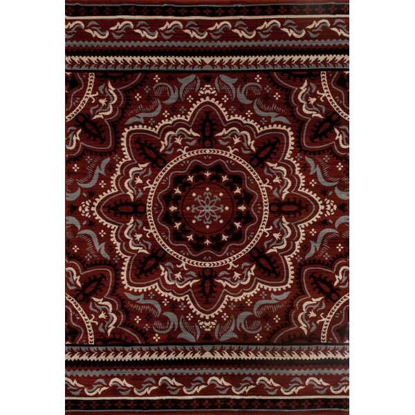 Highland Red Area Rug by Charlton Home