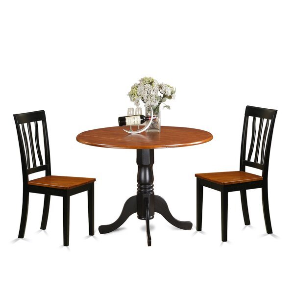 Stapp 3 Piece Drop Leaf Solid Wood Dining Set by Charlton Home Charlton Home