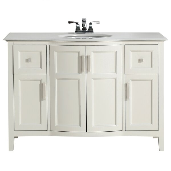 Winston 49 Single Rounded Front Bath Vanity Set by Simpli Home