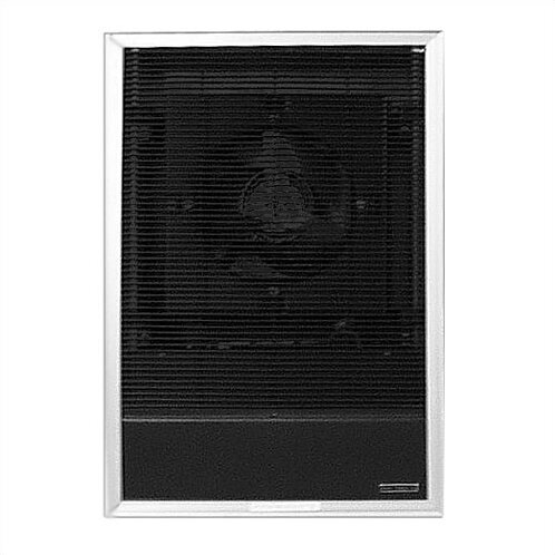 Heavy Duty 17,065 BTU Wall Insert Electric Fan Heater with Double Pole Thermostat and 25 Tamperproof Grille by TPI