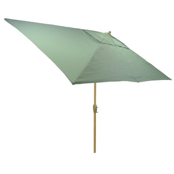 Solid 6.5' x 10' Rectangular Market Umbrella by Modern Rustic Interiors