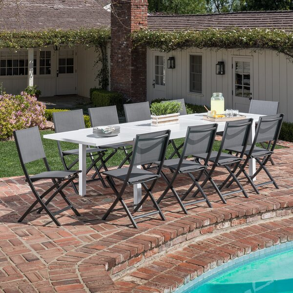 Frampton Cotterell 11 Piece Dining Set by Latitude Run
