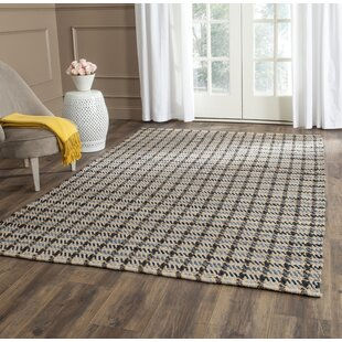 Montfort Hand Woven Cotton Gray Natural Area Rug