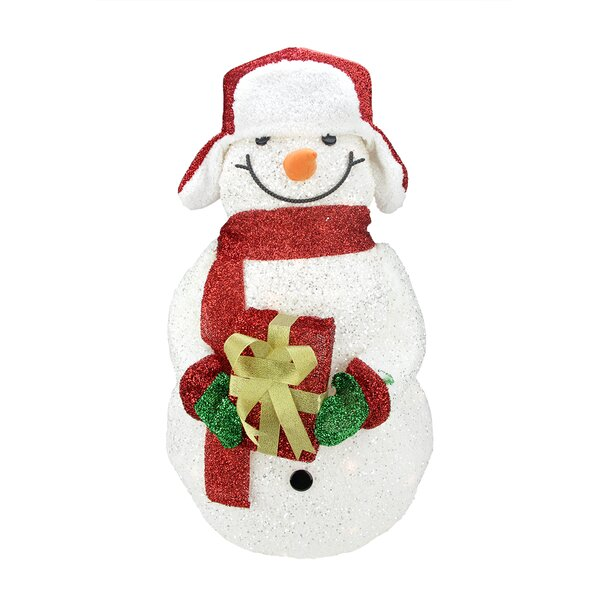 Snowman with Gift Christmas Decoration by Northlight Seasonal