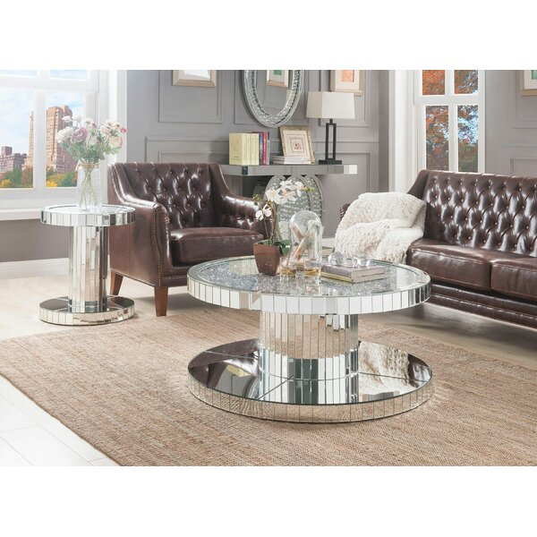 Perea 2 Piece Coffee Table Set by Everly Quinn Everly Quinn