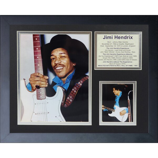 Jimi Hendrix Woodstock Framed Photographic Print by Legends Never Die